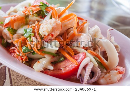 sea food Thailand - stock photo
