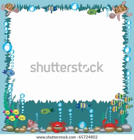 Sea frame - stock photo