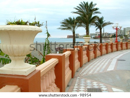 sea front - stock photo