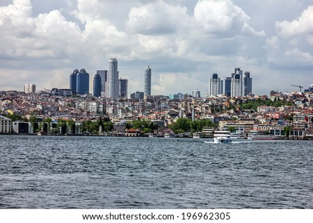 Sea front of Istanbul, Turkey.