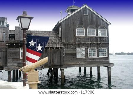 Sea house - stock photo