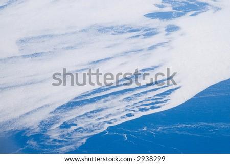 Sea ice, beginning to break up, off the coast of Greenland. - stock photo