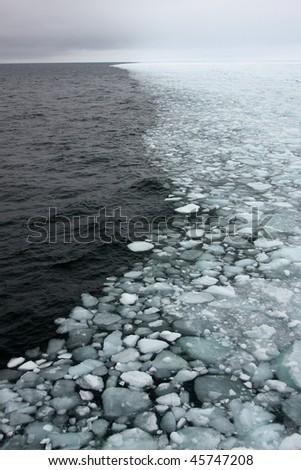 Sea ice edge - stock photo