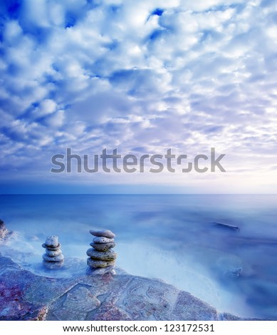 Sea in Crimea, sea coast