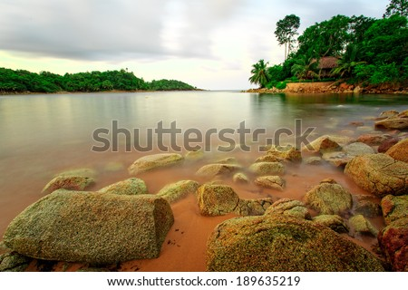 Sea in Ghana, West Africa, taken in long speed shutter technic