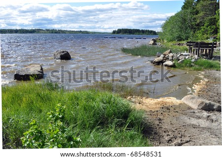 Sea in Sweden - stock photo