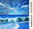 Sea in Turkey - stock photo