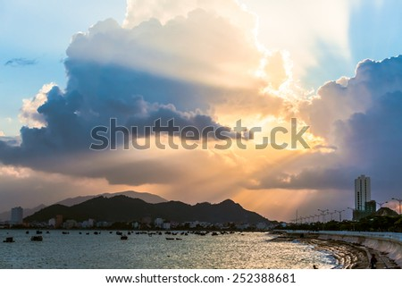Sea in Vietnam - stock photo