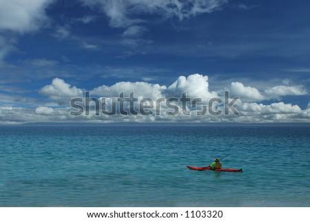 Sea Kayaking - stock photo