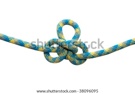 Sea knot. Austrian conductor. Isolated on white background.