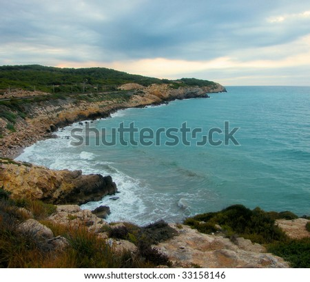 sea landscape at coast Costa Brava, Spain
