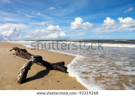 Sea landscape, Baltic Sea - stock photo