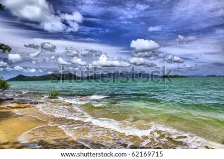 Sea landscape, Thailand - stock photo