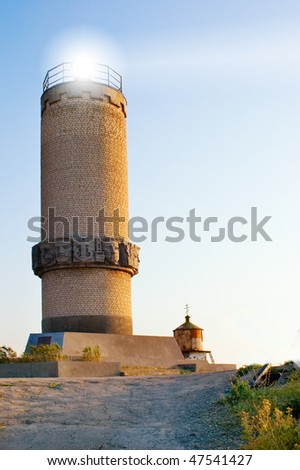 sea lighthouse - stock photo