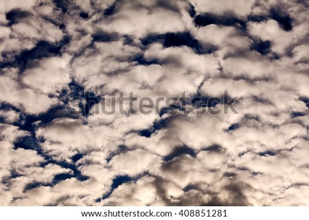 Sea of soft fluffy clouds - stock photo