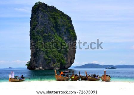 Sea of thailand - stock photo