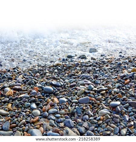 sea ??pebbles - stock photo