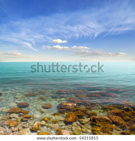 sea-piece - stock photo