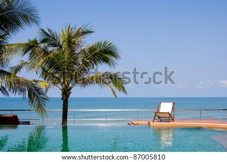 Sea pool in paradise , Thailand . - stock photo