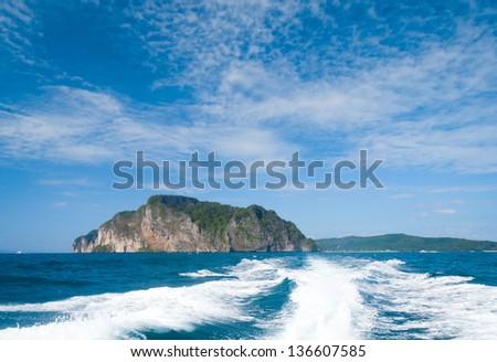 Sea Racing Rear View - stock photo