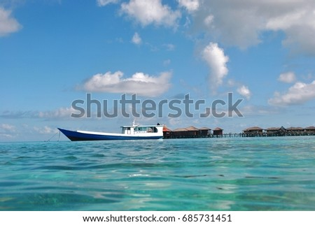 sea resort and a boat