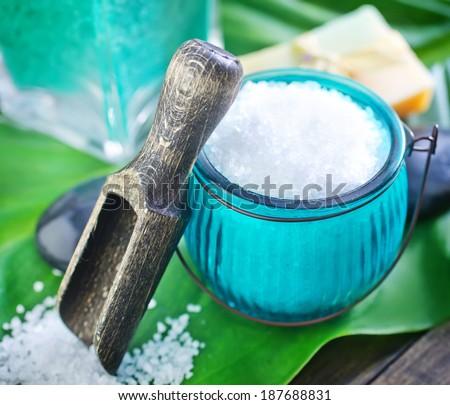 sea salt - stock photo
