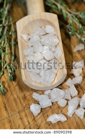 sea salt - stock photo