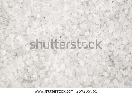 Sea salt crystals background - stock photo