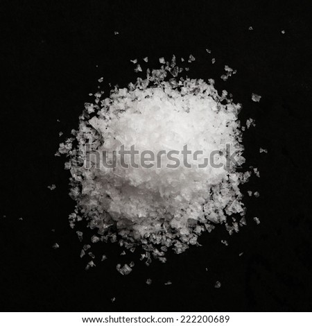 Sea salt flakes - stock photo