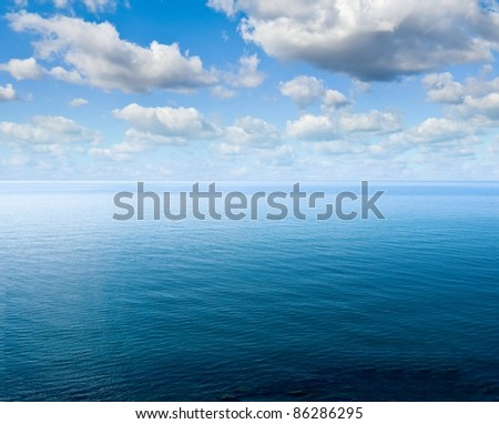 sea scape at the morning - stock photo