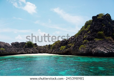 Sea Scene Desert Island  - stock photo