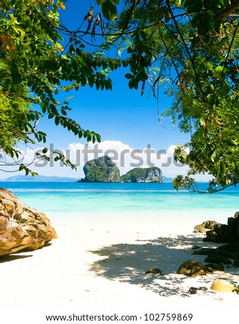 Sea Scene Exotic Beach - stock photo