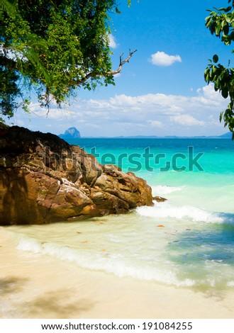 Sea Scene Exotic Beach  - stock photo