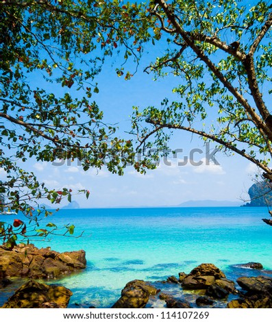 Sea Scene Harbor Waters - stock photo