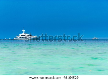 Sea Scene Modern Vessel - stock photo