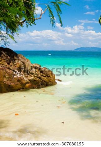 Sea Scene Peaceful Paradise  - stock photo