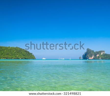 Sea Scene Seascape Azure  - stock photo