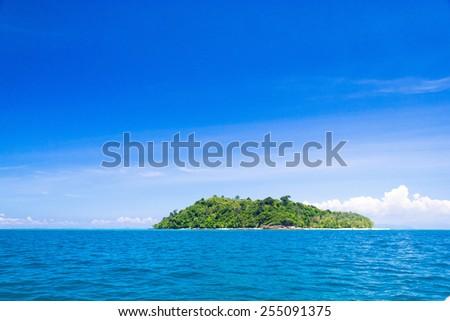 Sea Scene Sunny Waters  - stock photo