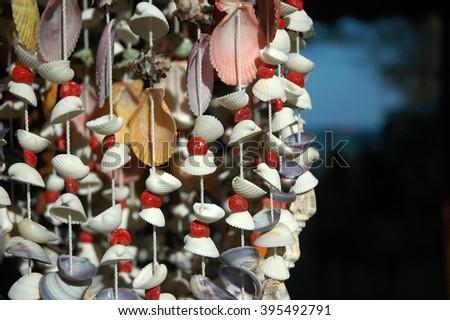 sea shell mobile - stock photo