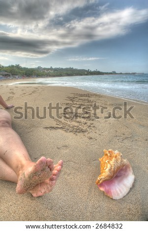 sea shell - Puerto Plata - Caribbean - stock photo