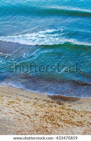 sea shore with clouds