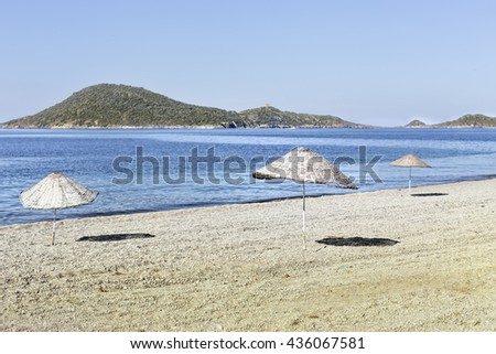 Sea side in summer - stock photo