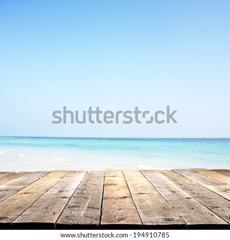 sea sky and desk  - stock photo