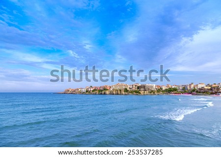 sea sky nature - stock photo