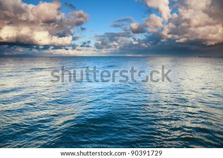 sea sky, storm, tempest, sky clouded over - stock photo