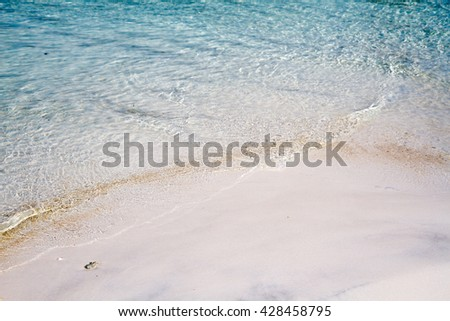 sea soft wave on the white sand beach at kho mak thailand