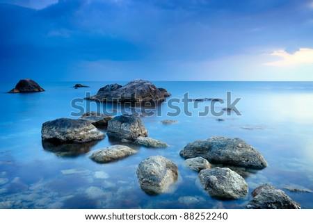 Sea stones - stock photo