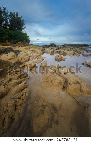 Sea stones textured and patterns.   - stock photo