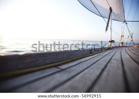 Sea, sun and sail - stock photo