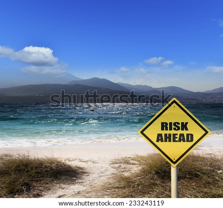 Sea sun sand and relaxation - stock photo